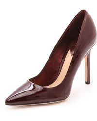 B Brian Atwood Naina Pumps Dark Red - Lyst