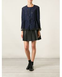 MSGM Floral Lace Flared Jacket - Lyst