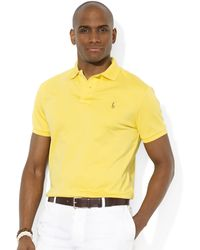 Ralph Lauren Polo Pima Solid Interlock Soft Touch Polo - Lyst