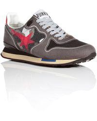 Golden Goose Deluxe Brand Suedeprinted Nylon Running Sneakers - Lyst