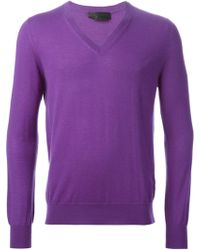 Alexander McQueen V-neck Sweater - Lyst