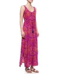 Figue Willow Batik-Print Silk Maxi Dress - Lyst