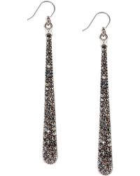 Lucky Brand - Silver-Tone Pavé Linear Drop Earrings - Lyst