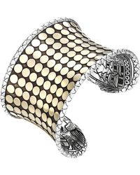 John Hardy Dot Silver & 18K Gold Wide Cuff - Lyst