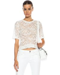 Raquel Allegra Lace Cropped Top - Lyst