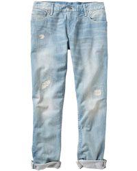 Gap 1969 Patch & Repair Sexy Boyfriend Jeans - Lyst