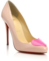 christian louboutin heart pumps