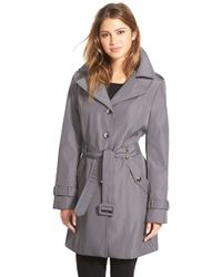 CALVIN KLEIN 205W39NYC - Single Breasted Belted Trench Coat - Lyst