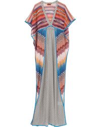 Missoni Patchwork Long Dress - Lyst