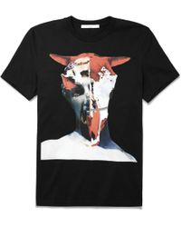 Givenchy Cuban Fit Skull Print Cotton T-Shirt - Lyst