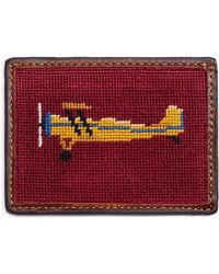 Brooks Brothers Airplane Needlepoint Card Case - Lyst