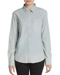 Textile Elizabeth And James Bianca Weathered Chambray Shirt - Lyst