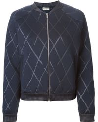 Balenciaga Quilted Bomber Jacket - Lyst