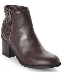 MIA - Oxblood Knoxx Quilted Boots - Lyst