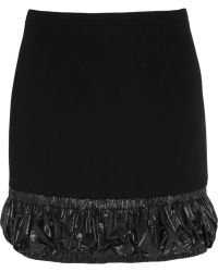 Christopher Kane Shelltrimmed Woolcrepe Mini Skirt - Lyst