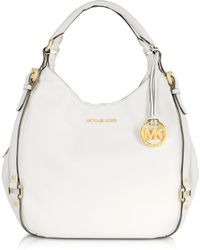 Michael Kors - Optic White Bedford Leather Shoulder Tote - Lyst