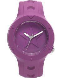 Converse - Unisex Rookie Purple Silicone Strap 43Mm Vr001-460 - Lyst