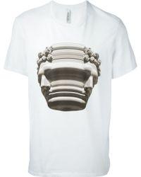 Neil Barrett Warped Bust Print T-shirt - Lyst