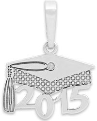 Macy's Us 2015 Graduation Cap Charm In 14K White Gold - Lyst