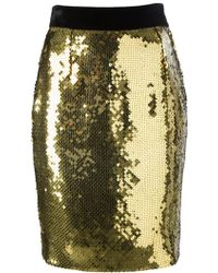 Moschino Vintage Sequined Pencil Skirt - Lyst
