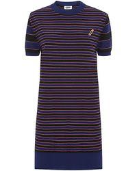 Sonia By Sonia Rykiel Stripe Knit Safety Pin Sweater Dress - Lyst