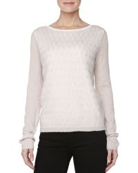 Halston Heritage Lightweight Cableknit Sweater - Lyst