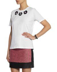 Lulu & Co - Embellished Cotton T-Shirt - Lyst