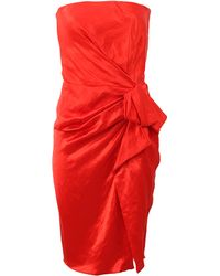 Lanvin Strapless Side Zip Dress - Lyst