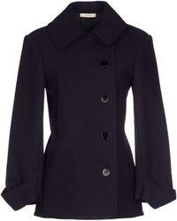 Celine Coat blue - Lyst