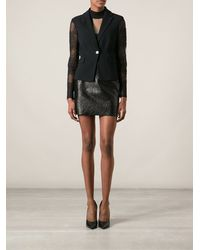 Versace Lace Sleeves Jacket - Lyst