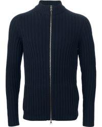 Eleventy - Ribbed Zipped Cardigan - Lyst