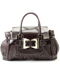 Gucci Dark Brown Handbag brown - Lyst