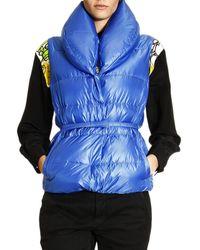 Ermanno Scervino Jacket Short Down Vest with Shawl Collar - Lyst