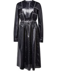 Proenza Schouler Leather Dress with Full Skirt - Lyst