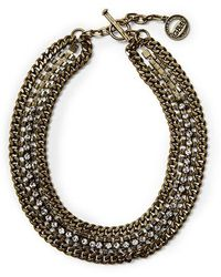 Giles & Brother Multi Crystal Cup Chain Necklace - Lyst