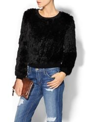Milly Knit Fur Sweater - Lyst