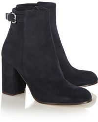 J.Crew Barrett Buckled Suede Ankle Boots - Lyst