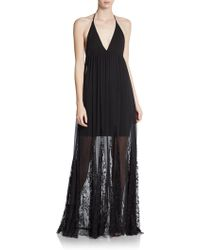 Alice + Olivia Murray Sheer Lace Maxi Dress - Lyst
