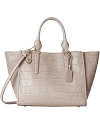 Coach Embossed Croc Crosby Carryall gray - Lyst
