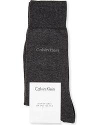 Calvin Klein Premium Flat-knit Socks - Lyst