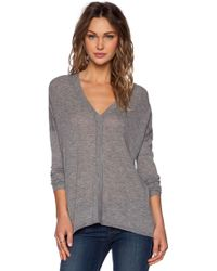 Vince Double-V Wool-Blend Sweater - Lyst