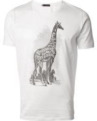 DSquared² Giraffe Print T-Shirt - Lyst