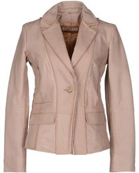 John Galliano Leather Outerwear - Lyst