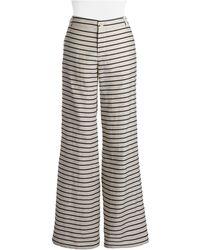 Weekend by Maxmara Striped Pants - Lyst