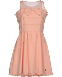 Maison Espin Short Dress orange - Lyst
