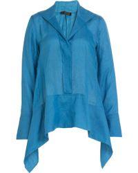 Donna Karan New York Ramie Tunic blue - Lyst