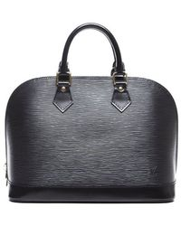 Louis Vuitton Preowned Black Epi Leather Alma Pm Bag - Lyst