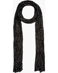 Saint Laurent Black Crimped Palm Tree Scarf - Lyst