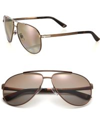 Gucci | Metal Aviator Sunglasses | Lyst