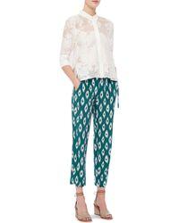 Equipment   Esme Cotton Silk Sheer Floral Top   Lyst
